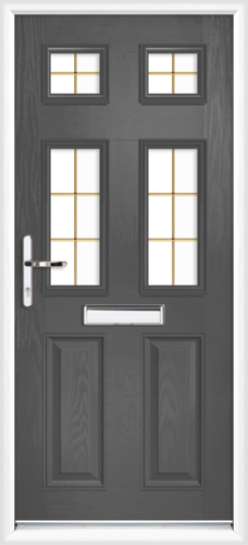 48fd2a2894275 anthracite grey Northumberland gold georgian fret Northumberland composite  door. £1211.00. Fully Fitted. Northumberland gold georgian fret