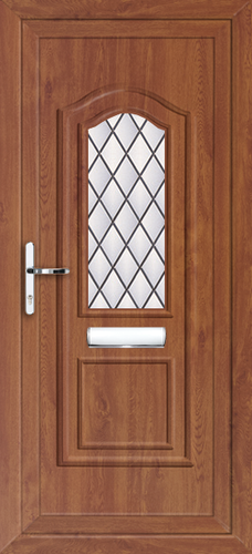 Oak fully fitted oxford upvc front doors for Upvc front doors fitted
