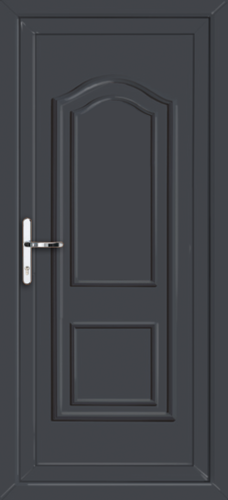 Anthracite grey oxford solid fully fitted upvc back door for Solid back doors