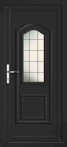 Black fully fitted oxford upvc back doors for Back doors fitted