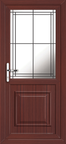 Mahogany fully fitted reading upvc back doors for Upvc back doors fitted