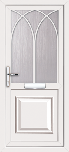 White fully fitted reading upvc front doors for Upvc front doors fitted