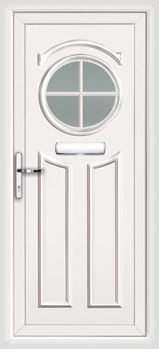 White redbridge georgian bar fully fitted upvc front door for Upvc front doors fitted