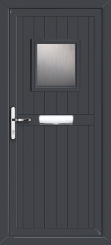 Anthracite Grey Wandsworth Esmie Supply Only Upvc Front Door