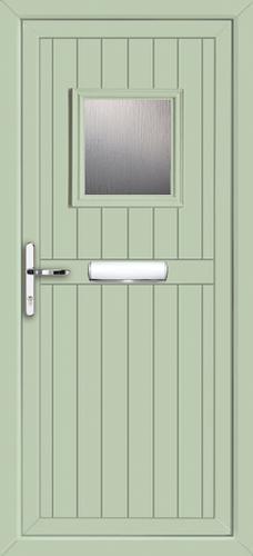 Light green upvc door for Upvc front doors fitted