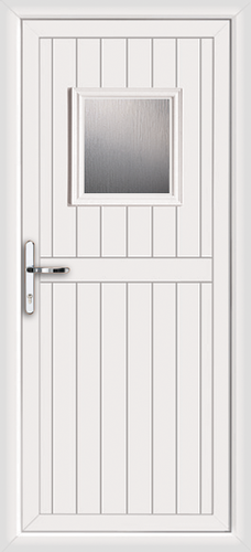 Narrow upvc door for White back door