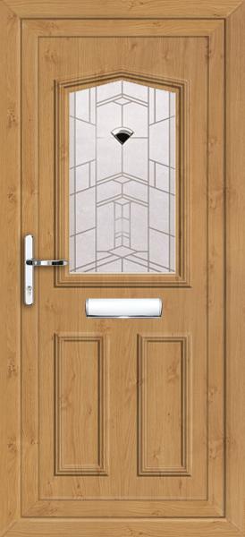 Irish Oak Aberdeen Pandora Fully Fitted Upvc Front Door