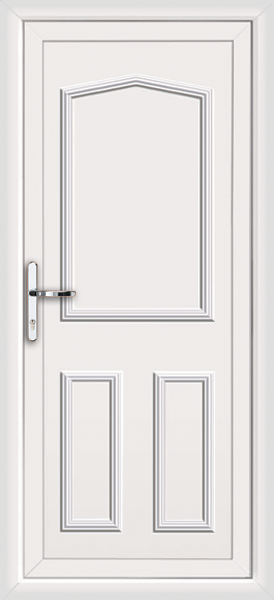 White aberdeen solid fully fitted upvc back door for Solid back doors