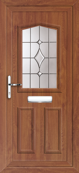 Oak aberdeen volos fully fitted upvc front door for Upvc front doors fitted