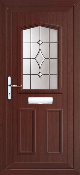 Rosewood aberdeen volos fully fitted upvc front door for Upvc front doors fitted