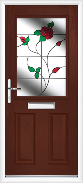 Rosewood Angus Cardinal Fully Fitted Composite Front Door