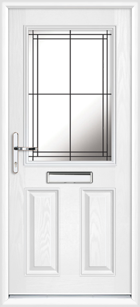 White Angus Lwd21 Supply Only Composite Front Door
