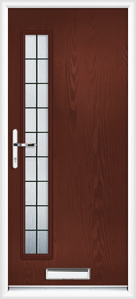 Argyll box lead & Rosewood Argyll Box Lead Fully Fitted Composite Front Door