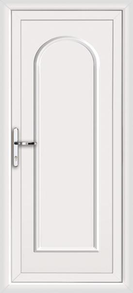 White Birmingham Solid Supply Only Upvc Back Door