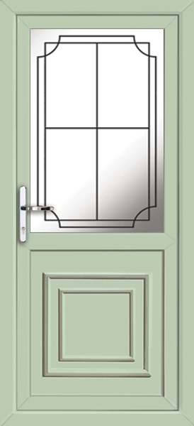 Chartwell green brent lwd19 fully fitted upvc back door for Back doors fitted