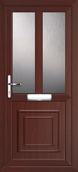 Rosewood Brent Melody 2 Fully Fitted Upvc Front Door