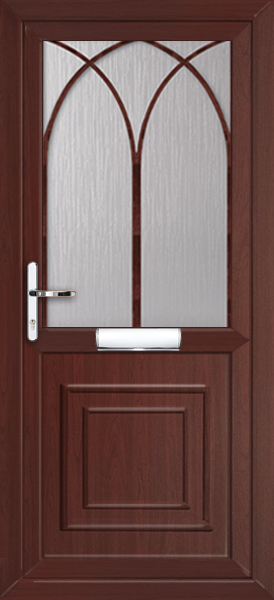 Rosewood Brent Pat22 Fully Fitted Upvc Front Door