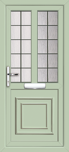 Chartwell Green Brent Square Lead 2 Fully Fitted Upvc Front Door