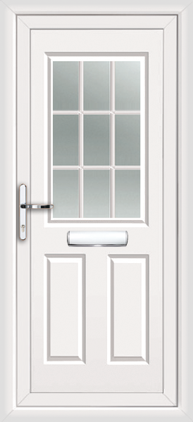 Upvc door handles silver for Upvc french doors with georgian bar