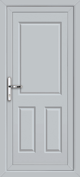 Light grey bromley solid supply only upvc back door for Solid back doors