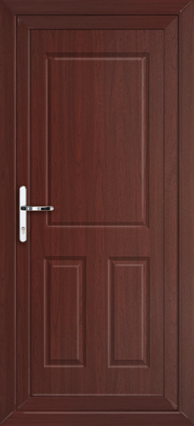 Rosewood bromley solid supply only upvc back door for Solid back doors
