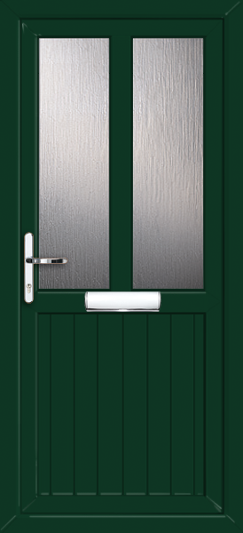 Green cardiff melody fully fitted upvc front door for Upvc front doors fitted
