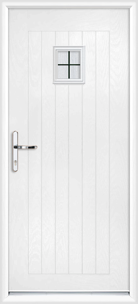 White cheshire box lead fully fitted composite back door for Back doors fitted