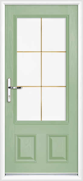 Chartwell green cleveland gold georgian fret fully fitted for Back doors fitted