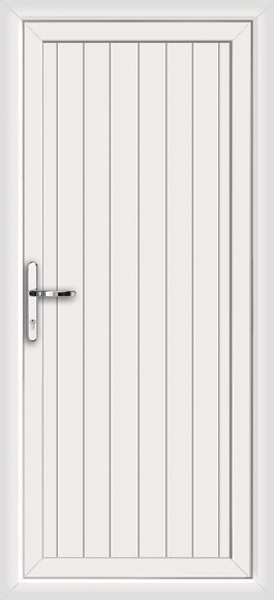 White Cottage Style Supply Only Upvc Front Door