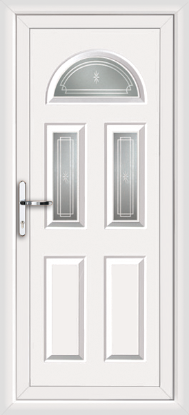 White coventry fowey supply only upvc back door for White back door
