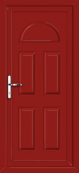 Red coventry solid supply only upvc back door for Solid back doors