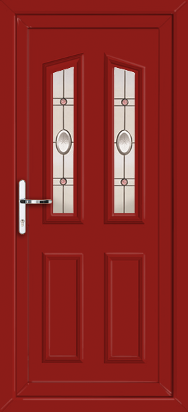 Red croydon abaya fully fitted upvc back door for Upvc back doors fitted