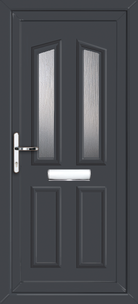 Anthracite grey croydon elbe fully fitted upvc front door for Upvc front doors fitted