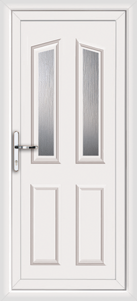 Upvc back doors low threshold for White back door