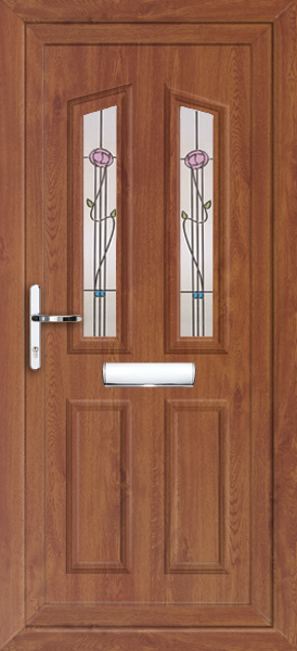Oak croydon kura fully fitted upvc front door for Upvc front doors fitted