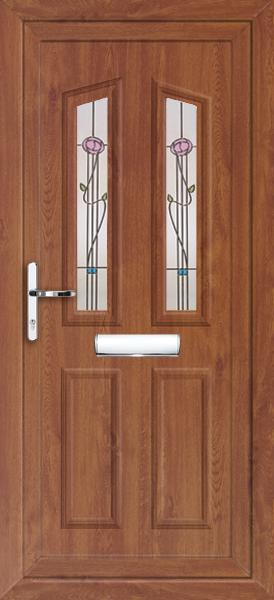 Oak croydon kura fully fitted upvc front door for Upvc doors fitted