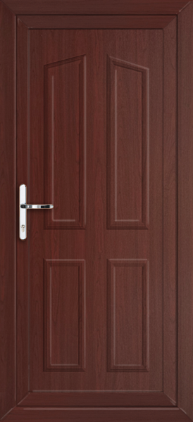 Rosewood croydon solid supply only upvc back door for Solid back doors