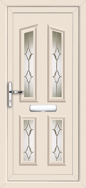 Cream croydon swish fully fitted upvc front door for Upvc doors fitted