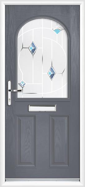 Slate grey devon blue cavana supply only composite front door for Slate blue front door