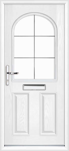Devon silver georgian fret  sc 1 st  We Do Doors & White Devon Silver Georgian Fret Fully Fitted Composite Front Door