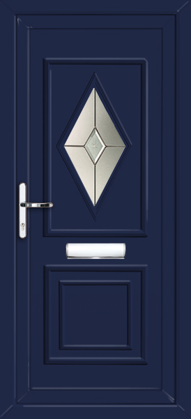 Blue ealing morava fully fitted upvc front door for Upvc doors fitted