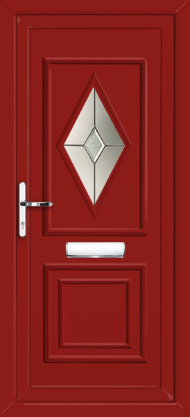 Red ealing morava fully fitted upvc front door for Upvc front doors fitted