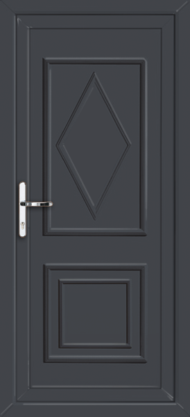 Anthracite grey ealing solid supply only upvc back door for Solid back doors