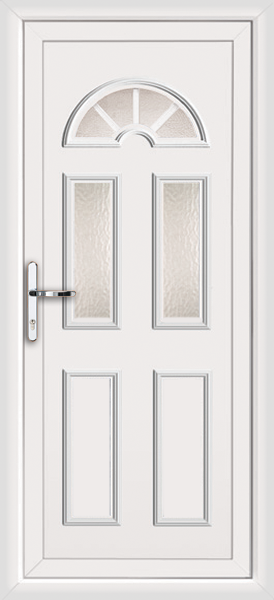 White enfield georgian bar 3 fully fitted upvc back door for Back doors fitted