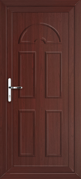 Rosewood enfield solid supply only upvc back door for Solid back doors