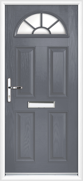 Slate Grey Essex Fully Fitted Composite Front Door