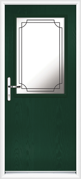 Green fife lwd9 fully fitted composite back door for Back doors fitted