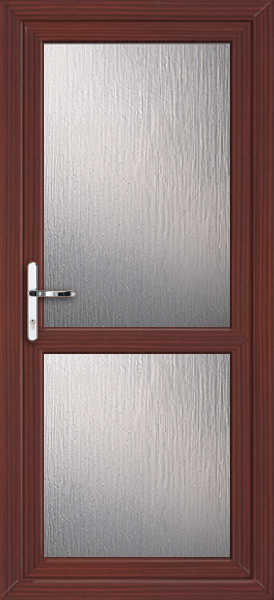 Mahogany fully glazed with midrail obscured fully fitted for Back doors fitted