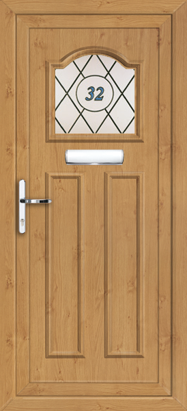 irish oak Glasgow elba upvc front door & Glasgow elba