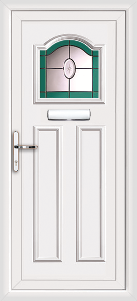 Upvc front door stained glass for Upvc doors fitted